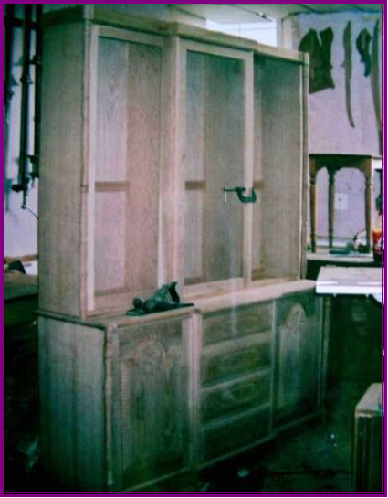An Oak dresser underconstructon in my workshop 